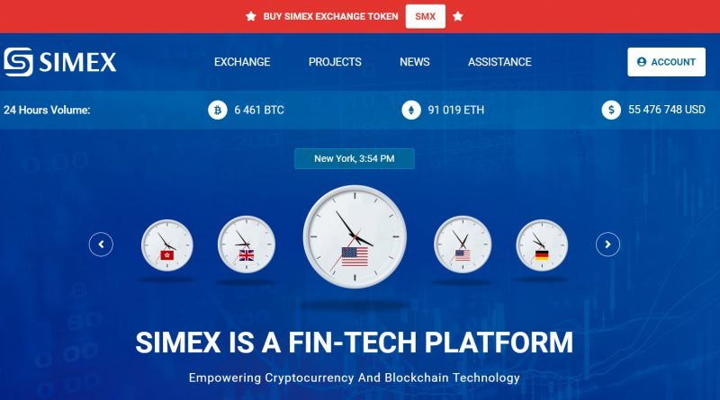 SIMEX Cryptocurrency Exchange
