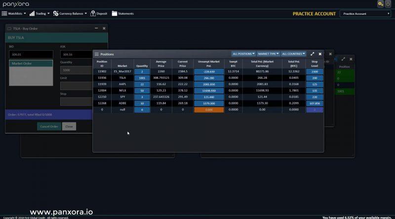 Panxora trading